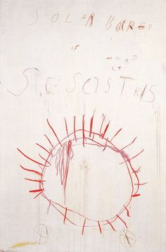 Cy Twombly, Coronation of Sesostris, Panel 2, 2000 / L'Altissimo /