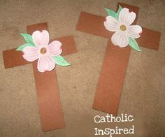 The Legend of the Dogwood Tree ~ Crafts and Cards - Catholic Inspired Bible School Crafts, Preschool Crafts, Easter Crafts, Easter Ideas, Catholic Easter, Catholic Crafts, Church Crafts, Dogwood Trees, Dogwood Flowers