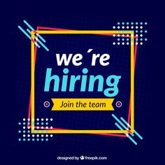 """""""we are hiring"""" composition with flat design Free Vector Creative Poster Design, Graphic Design Posters, Graphic Design Inspiration, Ad Design, Flyer Design, We Are Hiring, Jobs Hiring, Fashion Banner, Email Marketing Design"""