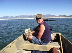 Eating SNATCH beef jerky and fishing on the lake.  I ain't never had to much fun! www.SNATCHjerky.com