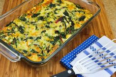Swiss Chard, Mozzarella, and Feta Egg Bake (Low-Carb, Gluten-Free) [from KalynsKitchen.com]