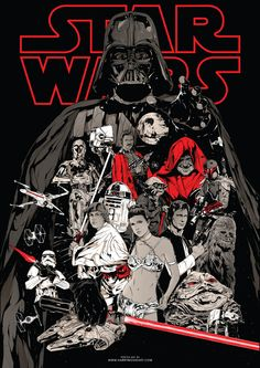 Star Wars Trilogy alternative poster art