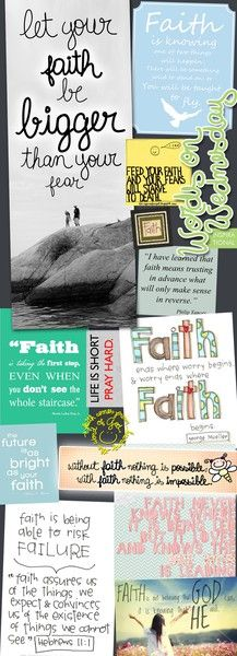 I need to remember to always have faith and replace that with my fear!