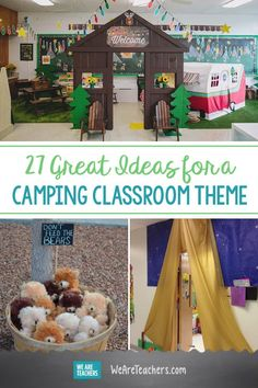 27 Great Ideas for a Camping Classroom Theme. Are you planning a camping theme f. - 27 Great Ideas for a Camping Classroom Theme. Are you planning a camping theme for your classroom f - Classroom Decor Themes, New Classroom, Classroom Design, Kindergarten Classroom, Camping Theme For Classroom, Preschool Camping Theme, Classroom Ideas, Preschool Classroom Themes, Classroom Board