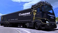 Man Evo Lion Skin mod for Evo Lion Skin for the MAN TGX Euro 6 by MADster. It also contains a Skin for the Krone Profiliner. All Truck, New Trucks, Romania Map, Euro, Bmw M5 E60, Truck Simulator, Luxury Bus, Volvo S60, Country Maps