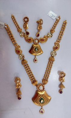 necklace=49.0 grams net weight long haram=104.2 grams net weight Gold Wedding Jewelry, Bridal Jewelry Sets, Gold Jewelry, Antique Jewellery Designs, Gold Jewellery Design, Gold Chain With Pendant, Fashion Jewellery Online, Necklaces, Gold Jewellery