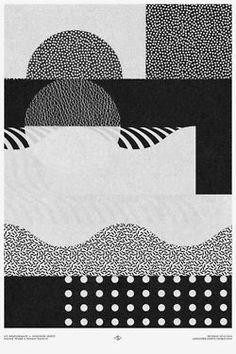 Bei Pattern belle scale di grigi, puntinato bello, fondamentale, a metà tra MXM (Medievale) Futurista anni 50