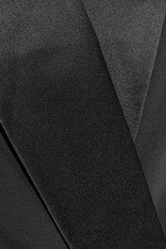 Tibi - Wrap-effect Satin-trimmed Crepe Mini Dress - Black - US4