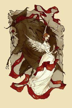 "#Abigail Larson #art looks like it must be fanart from the movie ""A Monster in Paris"""