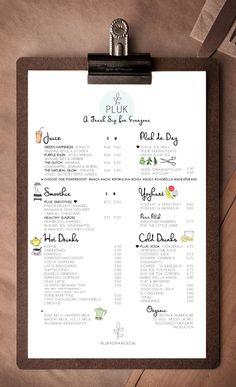menu de restaurant original