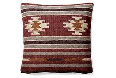 Kilim 20x20 Wool-Blend Pillow, Multi on OneKingsLane.com