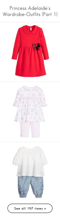 """""""Princess Adelaide's Wardrobe-Outfits (Part 1)"""" by duchess-rebecca ❤ liked on Polyvore featuring baby, baby clothes, jackets, tops, outerwear, sweaters, shirts, dresses, kids and kids clothes"""