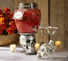 Skull Drink Dispenser Stand | Pottery Barn #halloween #skull #decor