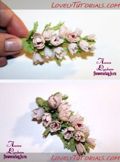 heather gumpaste flower tutorial