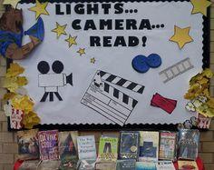Books to Movies library display photo - Photo gallery - SparkleBox