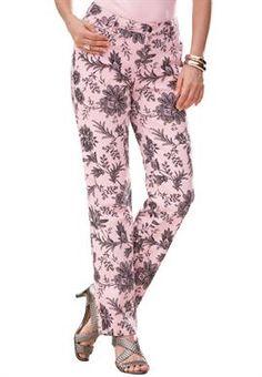 Plus Size Floral Print Jeans