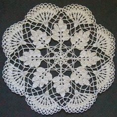 19 Inch Woodland Lace Doily from Vintage Pattern by DoilyDea, $30.00