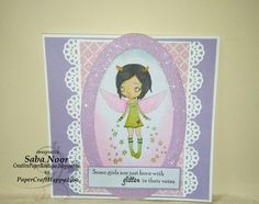 Glitter Girl Card + DT @ Paper Craft Happy ~ Creative Paper Boutique