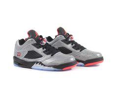 Air Jordan x Neymar 5 Low - Reflective Silver/Infrared Jordans Sneakers, Air Jordans, Fc Barcalona, Neymar, Silver, Shoes, Black, Zapatos, Shoes Outlet