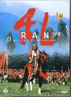 "Ran — by Kurosawa.  An incredible visual treat sets Shakespeare's ""King Lear"" in medieval Japan."