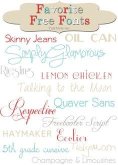 fonts...fonts...fonts