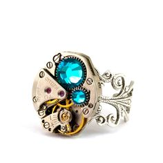 I love me some Steampunk.  This ring $55 on Etsy.