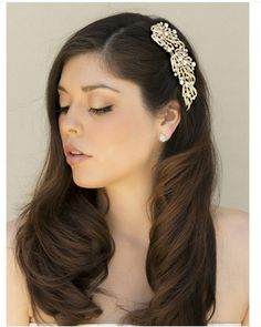 presley hair pin side swept style http://www.haircomesthebride.com/lovely-rhinestone-wing-bridal-hair-comb-presley-in-gold-1/