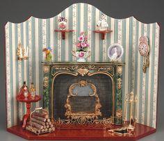 miniature fireplace