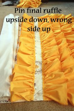 How to make a ruffled curtain using $4 flat sheets from walmart! So ...
