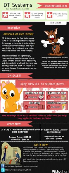 Infographic about #DTSystems dog training collar products for efficient, safe and confident dog hunting experience. Available at PetStreetMall.com