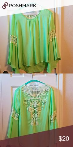 Beautiful Blouse w/ Lace in back Great Condition Tops Blouses
