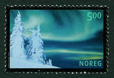 Aurorae on stamps – Norway 2001 Elder Futhark, Stamp Collecting, Postage Stamps, Astronomy, Aurora, Norway, World, Teaching, Collection