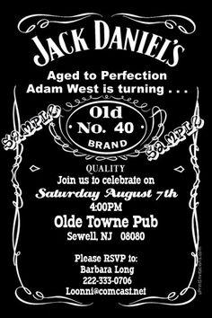 Jack Daniels wedding invites Custom for our wedding Wedding