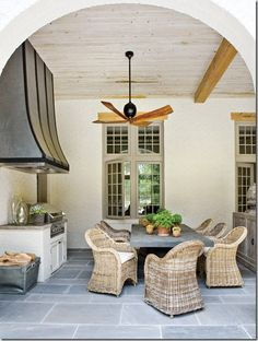 Deck/patio design photos, ideas and inspiration. Amazing gallery of interior design and decorating ideas of decks/patios by elite interior designers - Page 36 Home Living, Coastal Living, Living Spaces, Outdoor Rooms, Outdoor Dining, Outdoor Kitchens, Dining Area, Dining Room, Kitchen Dining