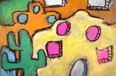 Chalk adobe art piece