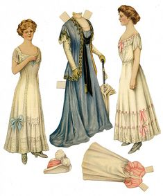 These paper dolls are from The Ladies Home Journal, about 1902 to 1910.
