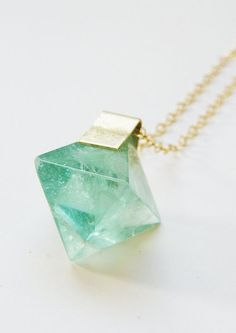 Mint green | mineral, gemstone, jewelry, pendant, necklace