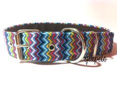collar para perro artesanal con tejido veraniego