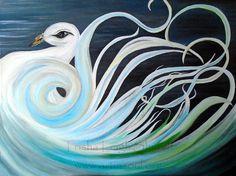 The Bonny Swan (c) 2016 Trisha Leigh Shufelt Acrylic on canvas 18x24
