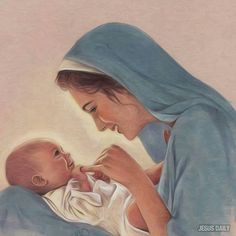 Sweet depiction of Mary and Baby Jesus.....