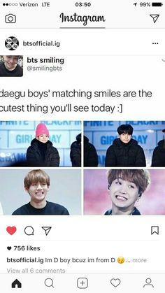 Daegu boys. V and Suga