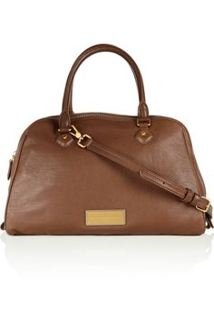 Marc by Marc Jacobs Washed Up Lauren leather bowling bag NET-A-PORTER.COM