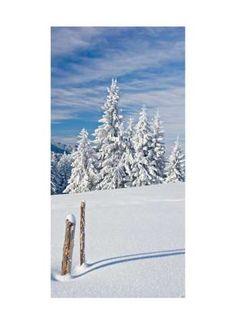 Winter in den Bergen Motivdruck Papier