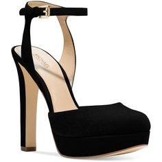 e67dd4c44b8e Michael Michael Kors Trish Platform Ankle-Strap Pumps ( 145) ❤ liked on  Polyvore · Black Suede ShoesBlack High Heel ...