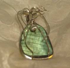 Labradorite Sterling Silver Wire Wrapped Pendant by EstherDestiny7 (Ann's Jewelry Collection) #teamwwes