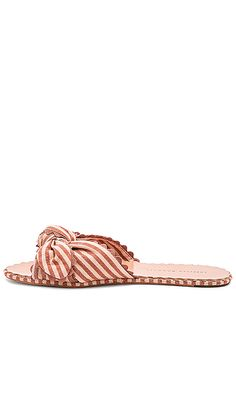 Shirley Knotted Ric Rac Slide With Scalloped Edge in Brique   Blush  Scalloped Edge 891b9c5a5