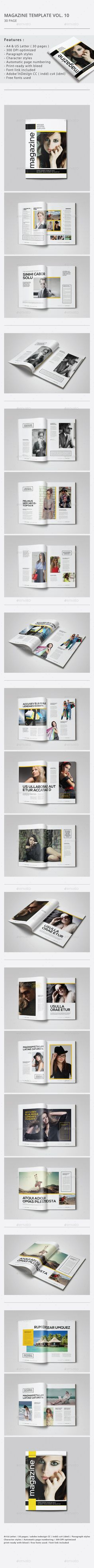 Indesign Magazine Template | #magazinetemplate | Download: http://graphicriver.net/item/indesign-magazine-template-vol10/9918945?ref=ksioks