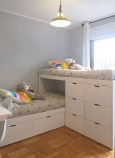Gorgeous 36 Elegant Small Kids Room Design Ideas With Smart Saving Space. Girl Room, Girls Bedroom, Bedroom Decor, Couple Bedroom, Bedroom Ideas, Master Bedroom, Dressing Room Design, Shared Bedrooms, Kid Bedrooms