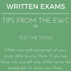 Stay focused! Remember, it's sometimes best to revise the thesis instead of the essay. #writingtips #exams #writing