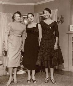 Very well dressed ladies! https://flic.kr/p/dgsEs | Carolyn and Dency with Friend - c1950